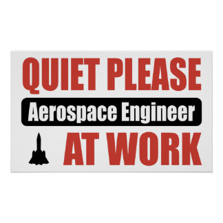 Quiet Please Aerospace Engineer At Work Posters