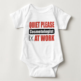 Quiet Please Cosmetologist At Work Baby Bodysuit