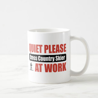 Quiet Please Cross Country Skier At Work Coffee Mug