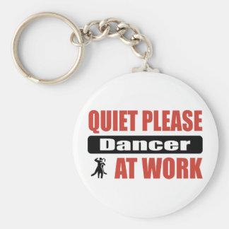 Quiet Please Dancer At Work Keychain