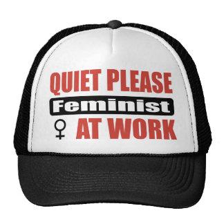 Quiet Please Feminist At Work Trucker Hat