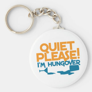 Quiet Please ... I'm hungover Basic Round Button Keychain