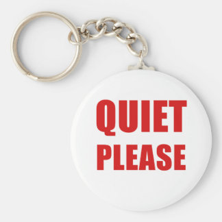Quiet Please Keychain