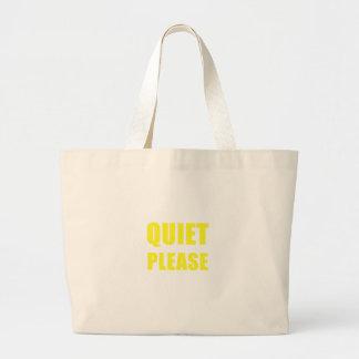 Quiet Please Large Tote Bag