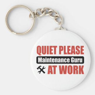 Quiet Please Maintenance Guru At Work Keychain