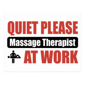 Quiet Please Massage Therapist At Work Postcard