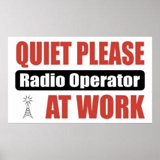 Quiet Please Radio Operator At Work Poster
