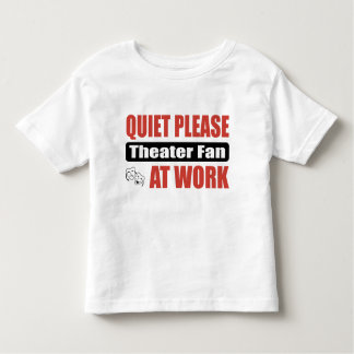 Quiet Please Theater Fan At Work Shirt