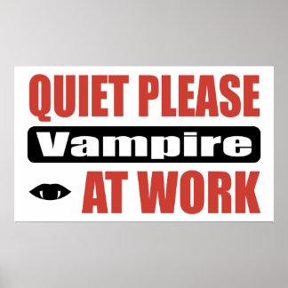 Quiet Please Vampire At Work Poster
