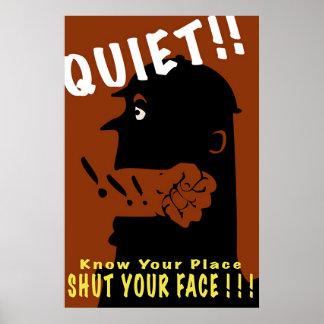 Quiet!! Poster