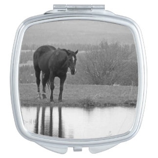 Quiet Reflectionz ~ Horse Compact Mirror