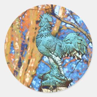 Quiet Rooster Sticker