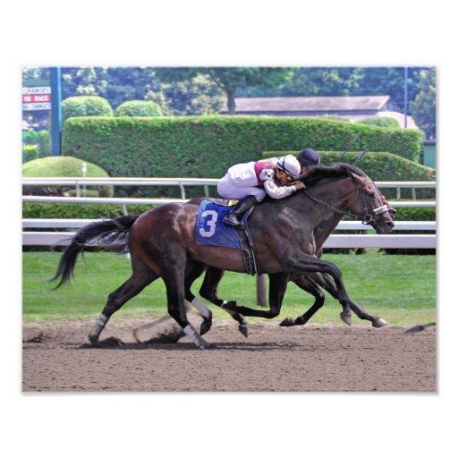 Quiet Ruler runs down Flat Jack Photo Print