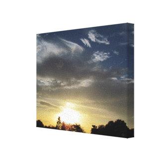 Quiet Sunset on Canvas