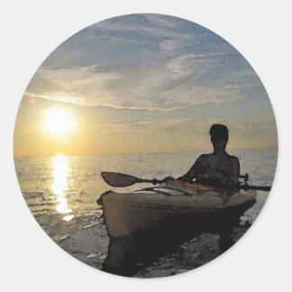 Quiet Sunset Round Sticker