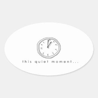 quiet times oval sticker