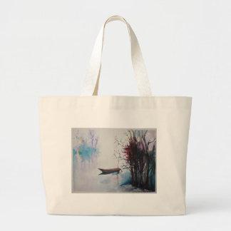Quiet Waters Large Tote Bag