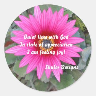 Quiet with God sticker