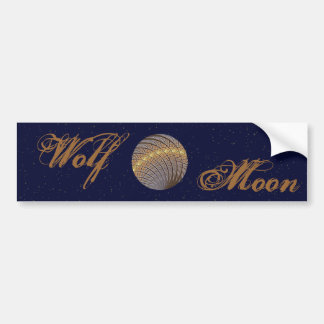Quiet Wolf Moon Bumper Sticker