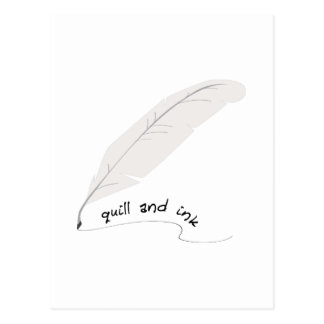 Quill And Ink Postcard