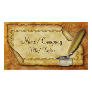Quill Pen and Parchment Pack Of Standard Business Cards