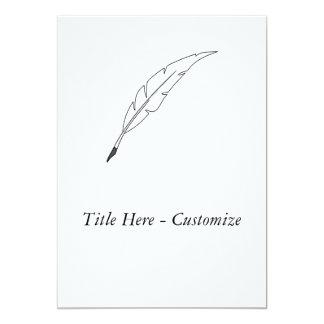 """Quill Pen 5"""" X 7"""" Invitation Card"""