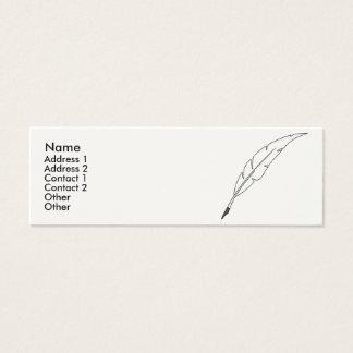 Quill Pen Mini Business Card