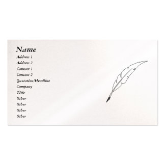Quill Pen Pack Of Standard Business Cards