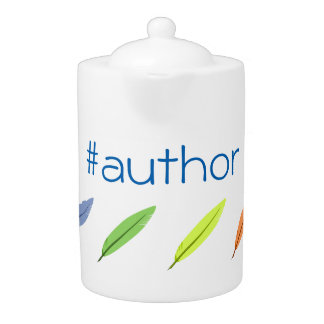 Quill pens and author hashtag