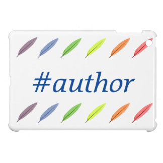 Quill pens and author hashtag case for the iPad mini