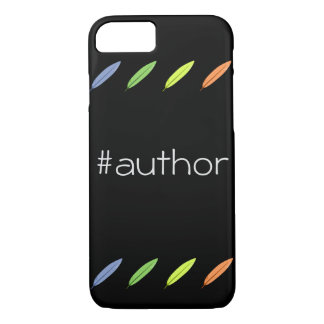 Quill pens and author hashtag iPhone 8/7 case