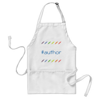 Quill pens and author hashtag standard apron