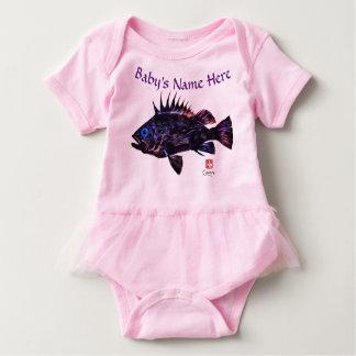 Quillback Rockfish Stylized - Baby Bodysuit Tutu