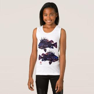 Quillback Rockfish Stylized - Girl's Tank Top