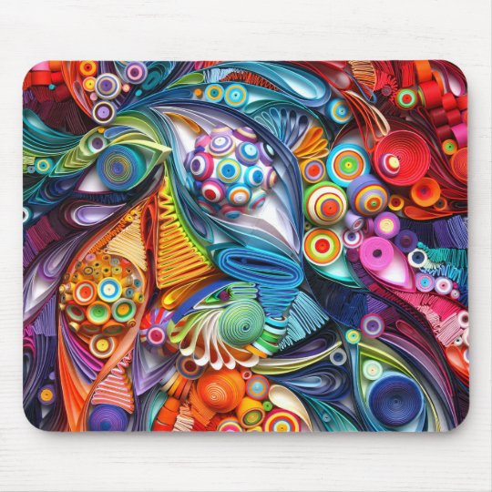 Quilling mousepad