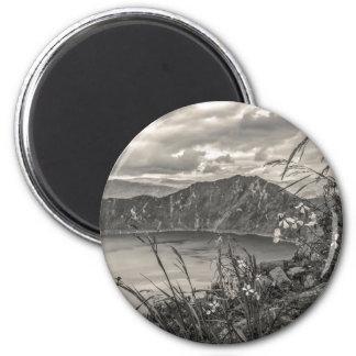Quilotoa Lake Latacunga Ecuador 2 Inch Round Magnet