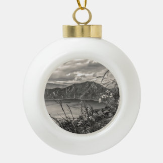 Quilotoa Lake Latacunga Ecuador Ceramic Ball Christmas Ornament