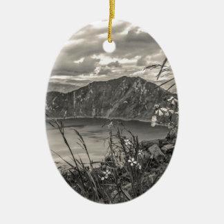Quilotoa Lake Latacunga Ecuador Ceramic Oval Ornament