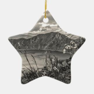 Quilotoa Lake Latacunga Ecuador Ceramic Star Ornament