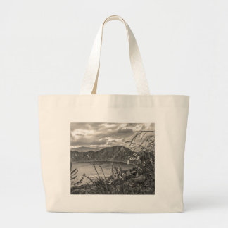 Quilotoa Lake Latacunga Ecuador Large Tote Bag