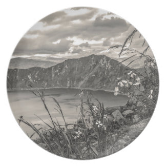 Quilotoa Lake Latacunga Ecuador Plate