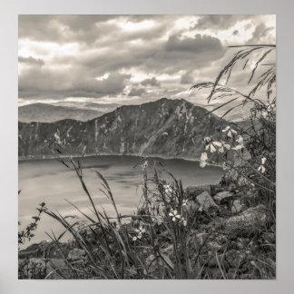 Quilotoa Lake Latacunga Ecuador Poster