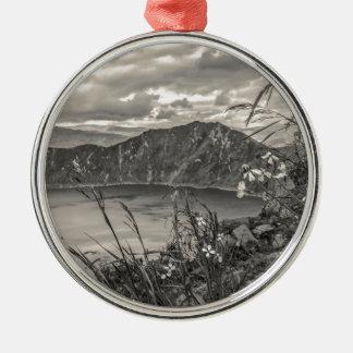 Quilotoa Lake Latacunga Ecuador Silver-Colored Round Ornament