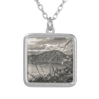 Quilotoa Lake Latacunga Ecuador Silver Plated Necklace