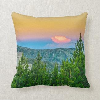 Quilotoa Town, Latacunga, Ecuador Throw Pillow