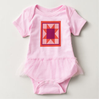 Quilt Baby Clothing - Sawtooth Star Baby Bodysuit