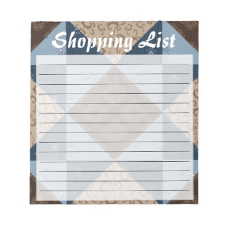 Quilt Block Customizable Lined Notepad