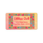 Quilt Block Patchwork Business Return Address Label