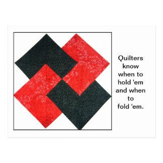 Quilt Block Quote Postcard