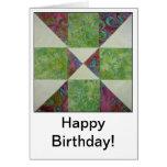 Quilt Block Quotes Birthday Card